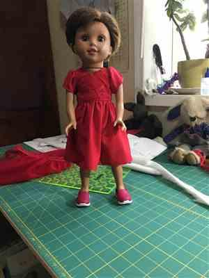 Emily Kirk verified customer review of Sugar n Spice & Everything Nice Dress & Pinafore with Dress Up Accessories 14.5 Doll Clothes Pattern