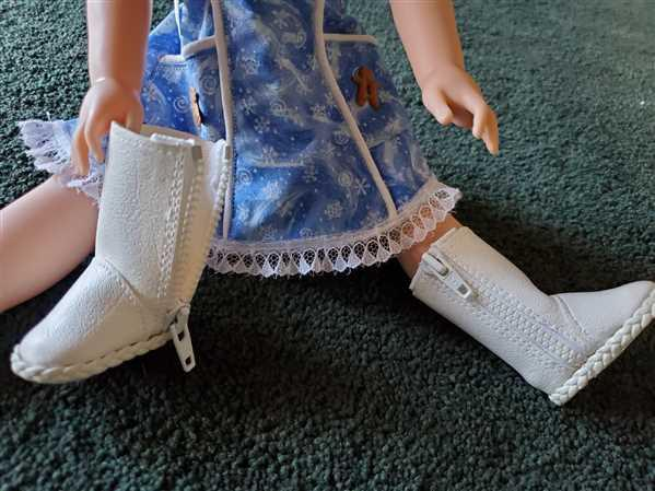 Pixie Faire Basic Side-Zip Boots 14.5 Doll Clothes Pattern Review