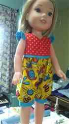Joanne G. verified customer review of Salina Dress and Top 14 -14.5 Inch Doll Clothes Pattern