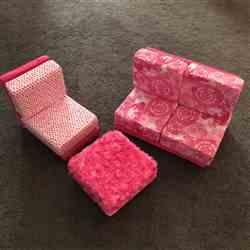 Christine H. verified customer review of a la Mod Lounge Collection: Ottoman PVC Pattern for 18 Dolls