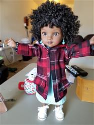 Sharron Johnson verified customer review of Oxford Square Coat 14 - 14.5 Inch Doll Clothes Pattern