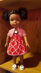 Judith Pitcock verified customer review of Picnic Sundress & Show My Bow Jacket 14.5 Doll Clothes Pattern