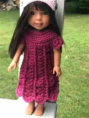 Michele M. verified customer review of Cobblestone Sweater Crochet Pattern for 14-14.5 Dolls