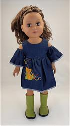 Tina Jones verified customer review of Peek-A-Boo Dress 18 Doll Clothes Pattern