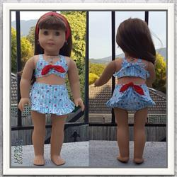 Pixie Faire Aloha Vintage Swimsuit 18 Doll Clothes Pattern Review