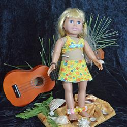 Mary Mahoney verified customer review of Aloha Vintage Swimsuit and Hula Accessories Bundle 18 Doll Clothes Pattern