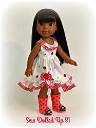 Julie Helmer verified customer review of Butterfly Kisses 14-14.5 Doll Clothes Pattern