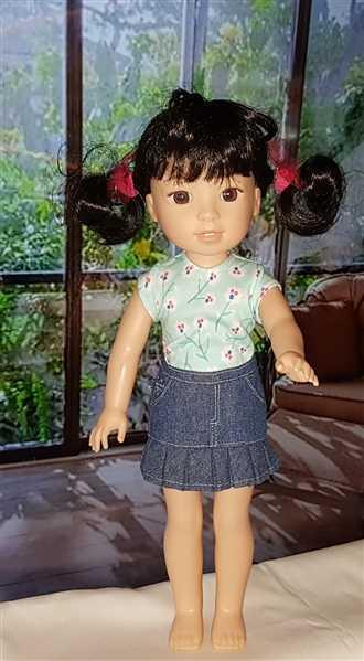 Lynne Thompson verified customer review of Colvin Jeans Skirt 13-14.5 Doll Clothes Pattern