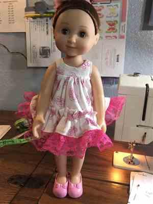 Felicia A Cormier verified customer review of Ruffled Shortie Set 14.5 Doll Clothes Pattern