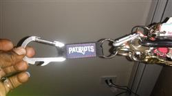 Fan Shop HQ New England Patriots Carabiner Keychain Review