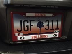 Fan Shop HQ Georgia Bulldogs Metal License Plate Frame - Red Review