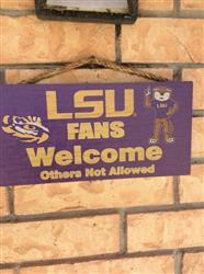 Fan Shop HQ LSU Tigers Wood Sign - Home Sweet Home 6x12 Review