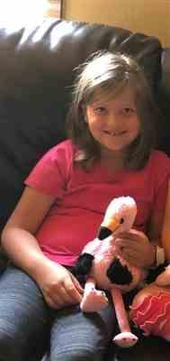 Kelsey S. verified customer review of Heatable Stuffed Animal | Flamingo