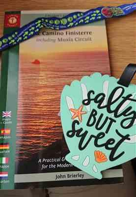 Katy H. verified customer review of 2020 edition: A Camino Pilgrim's Guide Camino Ingles + Santiago - Finisterre/Muxía (W/FREE Passport)