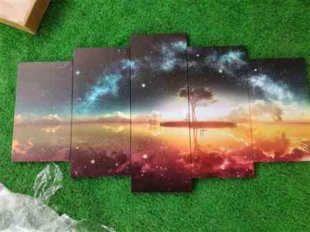 Neel R. verified customer review of Colorful starry night Canvas Set