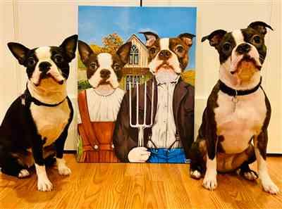 Tera Carlstrom verified customer review of American Gothic Pet Canvas