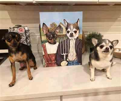 Felicia Withers verified customer review of American Gothic Pet Canvas