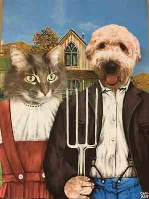 Sheri MacDonald verified customer review of American Gothic Pet Canvas