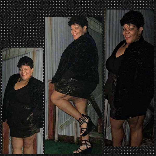 Marqita Foxx verified customer review of Plus Size Sequins Skirt Dress - Black