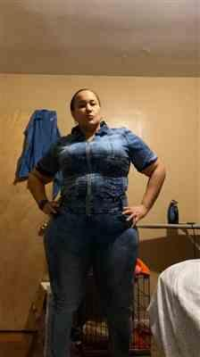Kelly C. verified customer review of Plus Size Rhinestone Acid Wash Denim Jumpsuit - Medium Wash