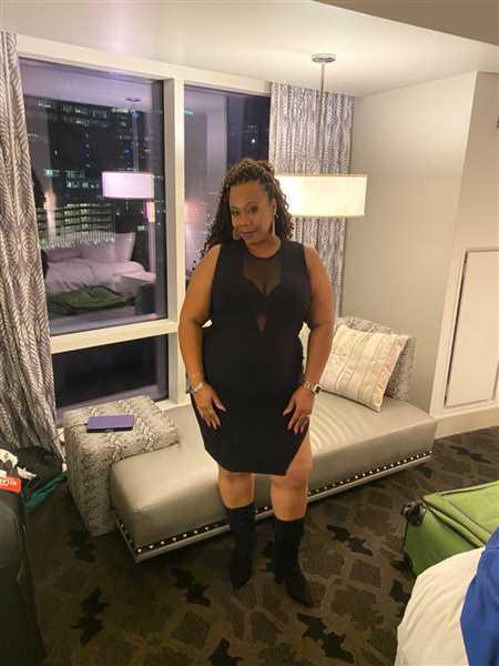 Andrina C. verified customer review of Plus Size Nicki Mesh Dress - Black