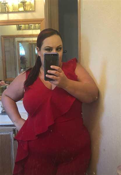 Dale Guidry verified customer review of Plus Size Hennessy Ruffle Jumpsuit - Red