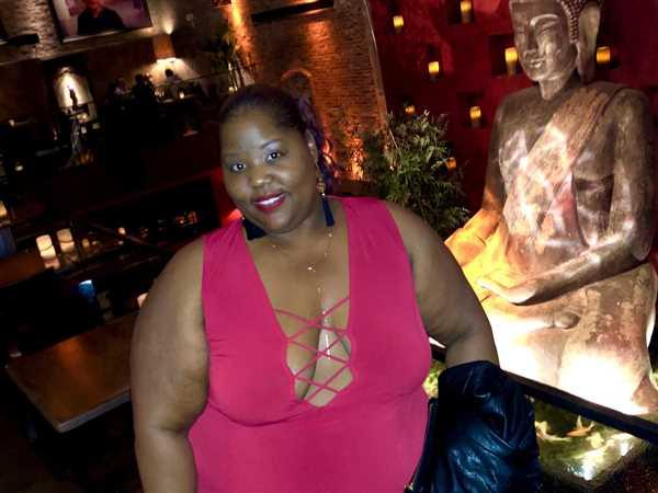 Arianne Amadi verified customer review of Plus Size Eden Caged Dress - Red