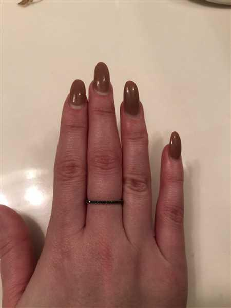 Anonymous verified customer review of 14k Black Diamond Eternity Band