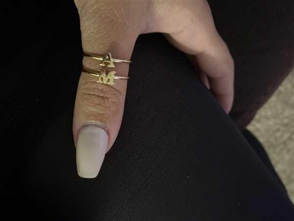 Ferkos Fine Jewelry 14k Gold Initial Letter Ring Review
