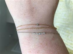 Anonymous verified customer review of 14k Gold Multi Diamond Cluster Bracelet
