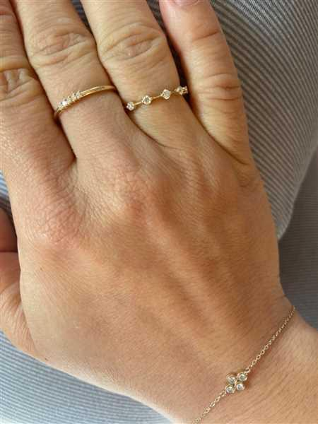 Anonymous verified customer review of 14k Petite Diamond Wedding Ring