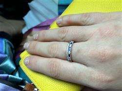 Leigh D. verified customer review of 14k Sapphire Baguette and Diamond Ring