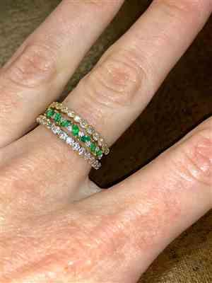 collin sheldon verified customer review of 14k Slanted Emerald and Round Diamond Ring