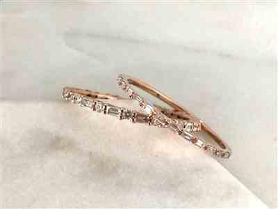 LEa ST GERMAIN verified customer review of 14k Ultra Thin Half Eternity Baguette Diamond Stackable Ring