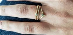 WHITNEY H. verified customer review of 14K Gold Chevron Diamond Ring