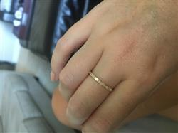 Anonymous verified customer review of 14k Baguette Diamond Wedding Ring