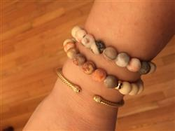 Daniela F. verified customer review of Golden Love Mala Bracelet