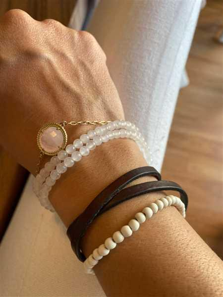 Valeria Aluni verified customer review of Harlow Minimalist Bracelet in Rose Quartz