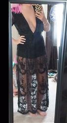 Kayla verified customer review of Candle Light Romance Maxi Romper (Black)