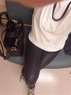 Gena S verified customer review of Slither On In Faux Leather Leggings