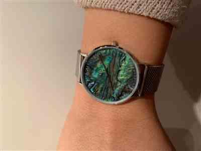 Nadja Schroeter  verified customer review of Abalone Silver Mesh