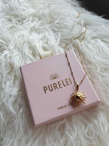 Anonymous verified customer review of PURELEI 'Sun' necklace