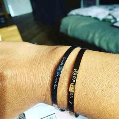 Kirstin S. verified customer review of PURELEI 'Create The Life You Love' bangle