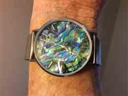 Shannon V. verified customer review of PURELEI Abalone Silver Mesh Watch