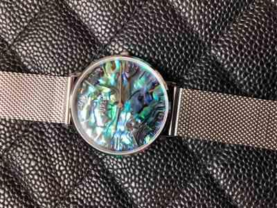 Antionette H. verified customer review of PURELEI Abalone Silver Mesh Watch