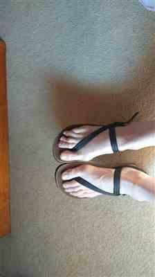 Kristen Frize verified customer review of Alpha Sandals