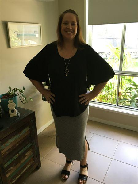 Anonymous verified customer review of Do You Love Me Flutter Sleeve Blouse - Black
