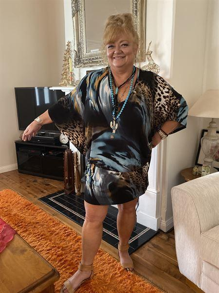 Colleen verified customer review of Kokomo Kaftan - Animal