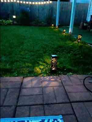 Lika M. verified customer review of Solar Powered Vintage Garden Lamp