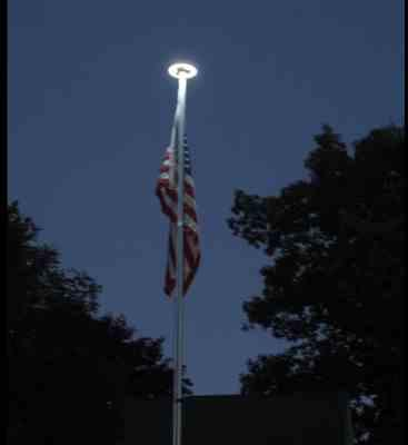 Dave verified customer review of Solar Powered Flag Pole UFO Light
